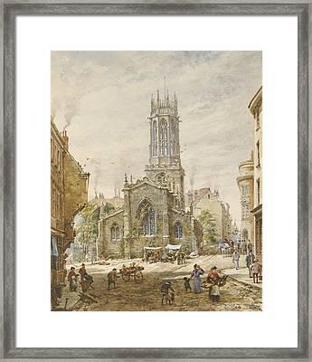 All Saints Framed Print by Louise Ingram Rayner