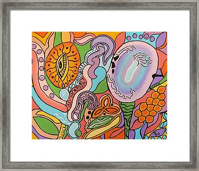All Seeing Egg Salad Framed Print by Barbara St Jean