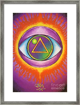 All Seeing Eye Framed Print by Jedidiah Morley