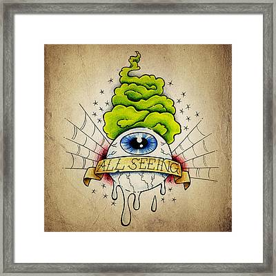 All Seeing Eye Framed Print by Samuel Whitton