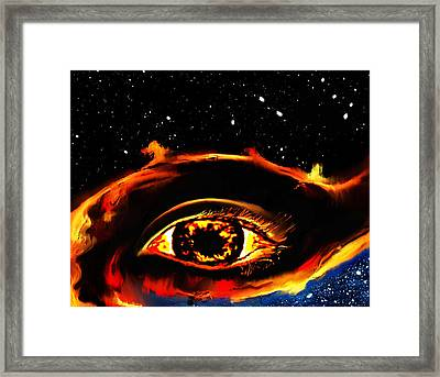 Framed Print featuring the painting All Seeing Eye by Persephone Artworks