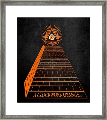 All Seeing Oranage Framed Print