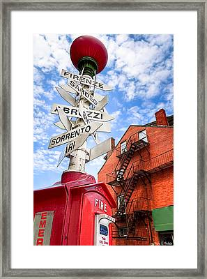 All Signs Point To Little Italy - Boston Framed Print by Mark E Tisdale