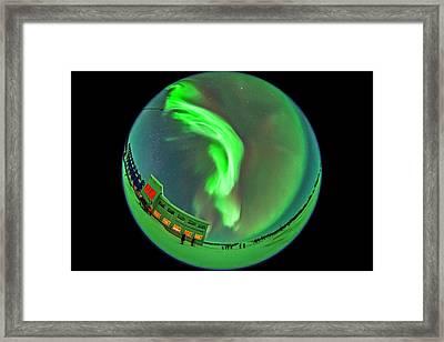 All-sky Aurora 3 Framed Print