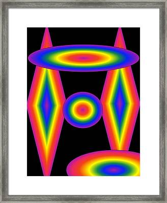 Framed Print featuring the digital art All So Bright by Gayle Price Thomas
