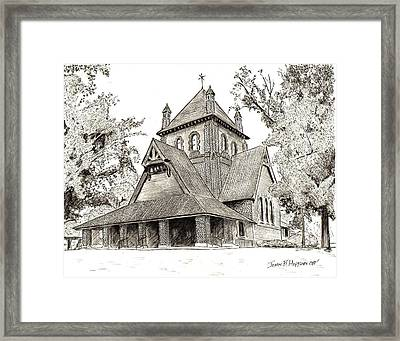All Souls Church Framed Print by John Hopson