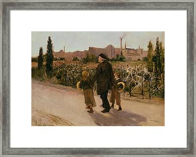 All Souls Day, C.1882 Framed Print by Jules Bastien-Lepage