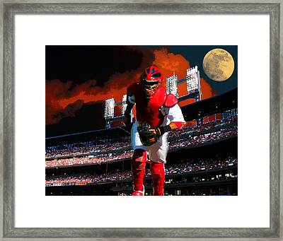 All Star Yadier Molina Framed Print
