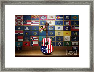 All State Flags Framed Print by Bedros Awak