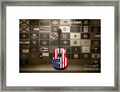 All State Flags - Retro Style Framed Print by Bedros Awak