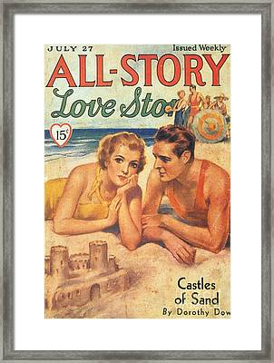 All-story 1920s Usa Holidays Love Framed Print by The Advertising Archives