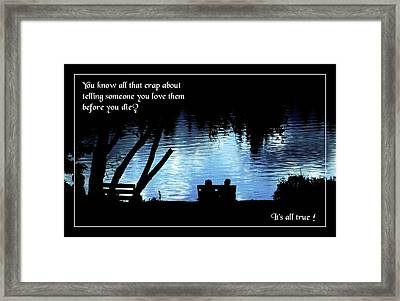 All That Crap Framed Print by Mike Flynn