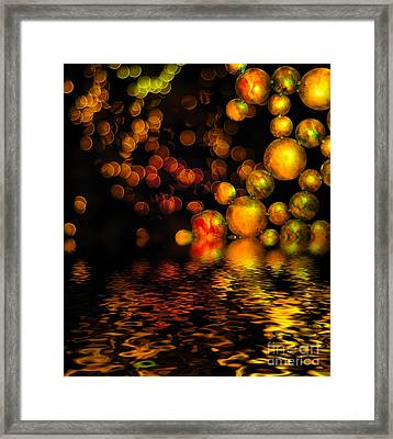 All That Glitters Is Gold Framed Print by Amy Cicconi