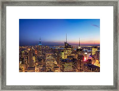 All That Glitters Is Gold - New York City Skyline Framed Print by Mark E Tisdale
