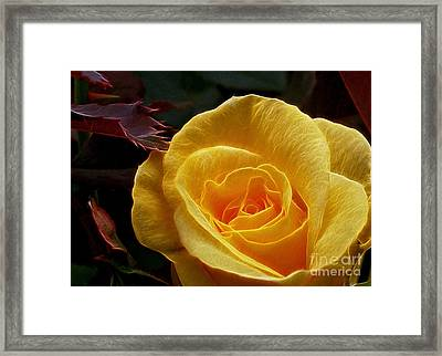 All That Glitters Is Not Made Of Gold Framed Print by Kaye Menner