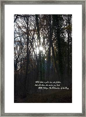 All That Is Gold Framed Print