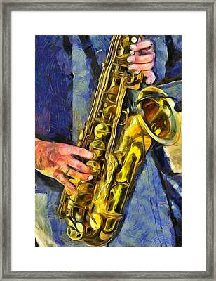 All That Jazz  Framed Print by L Wright