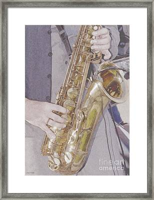 All That Jazz Framed Print by Liane Wright