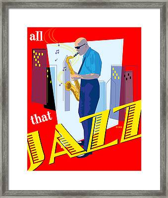 All That Jazz Framed Print by Timothy Ramos