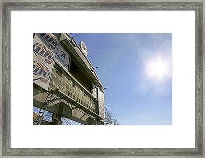 All That Remains Of Ray Winder Field Framed Print by Jason Politte