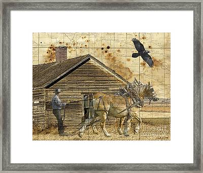 All That's Left Framed Print by Judy Wood