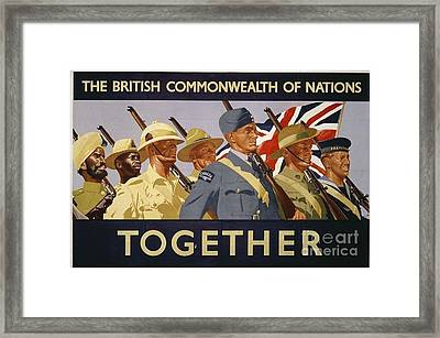 All The Commonwealth Countries Unite. Framed Print by Paul Fearn