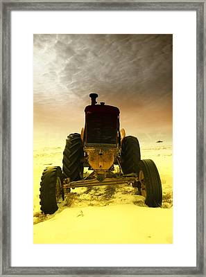 All The Feilds She Plowed Framed Print by Jeff Swan