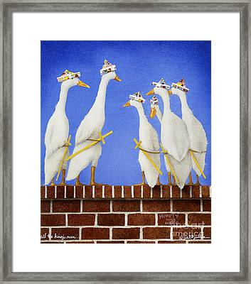 All The King's Men... Framed Print by Will Bullas