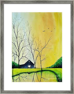 All The Leaves Are Gone  Framed Print