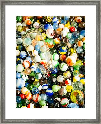 All The Marbles Framed Print