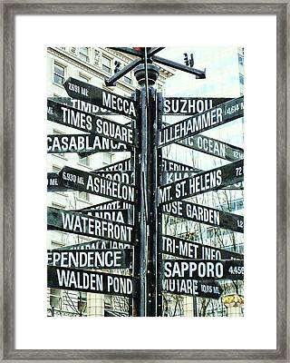 All The Places To Go Framed Print by Cathie Tyler