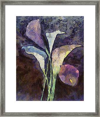 Framed Print featuring the painting All The Sadness by Joe Misrasi