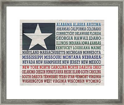 All The States Framed Print by Jo Moulton