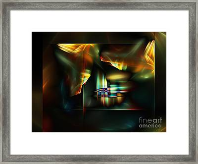 All The World's A Stage Framed Print by Klara Acel