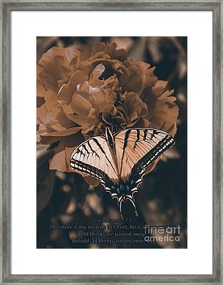 All Things Become New Framed Print by Janice Rae Pariza