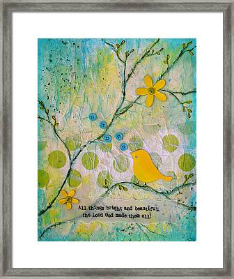 All Things Bright And Beautiful Framed Print by Carla Parris