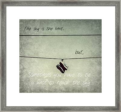 All Tied Up Inspirational Framed Print by Melanie Lankford Photography