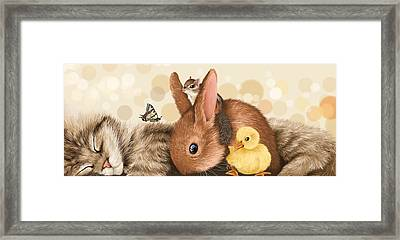 All Together Framed Print by Veronica Minozzi