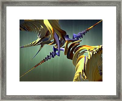 Framed Print featuring the digital art All Twisted Up by Melissa Messick