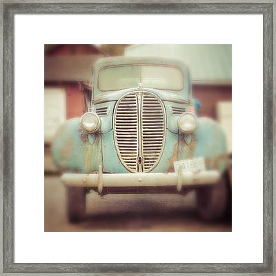 All Up In Your Grill Framed Print