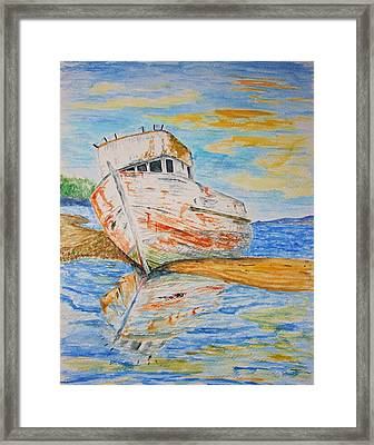 All Washed Up Framed Print by Paul Morgan