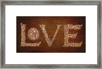 All We Need Is Love Framed Print by Terry Fleckney