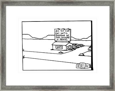 All You Can Eat At Joe's Diner Framed Print