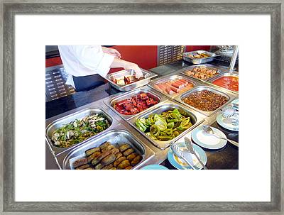 All You Can Eat Framed Print by Valentino Visentini