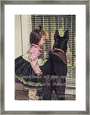 All You Need Is A Friend Framed Print
