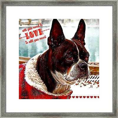 All You Need Is Love Framed Print by Carrie OBrien Sibley