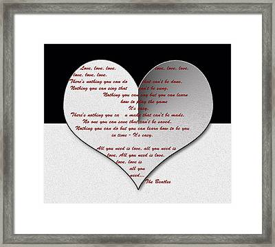 All You Need Is Love Digital Painting Framed Print