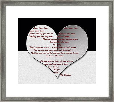 All You Need Is Love Digital Painting Framed Print by Georgeta Blanaru