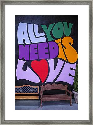 All You Need Is Love Framed Print by Garry Gay