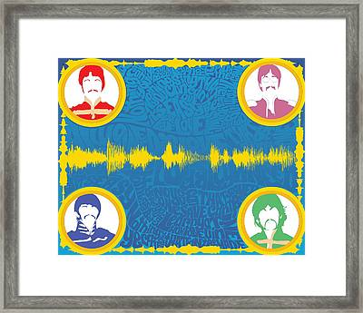 All You Need Is Love Inspired Digital Soundform Framed Print by Dak Mannella